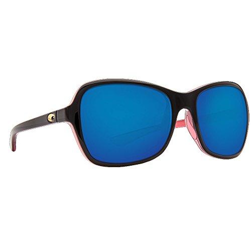 Costa Del Mar KAR132OBMP Kare Sunglass, Shiny Black Hibiscus Blue - Sunglasses Youth Costa