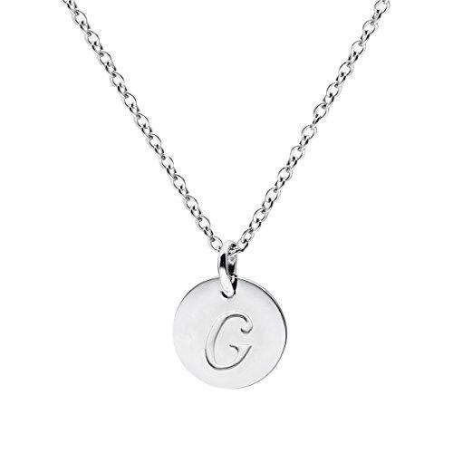 Three Keys Jewelry Stainless Steel Silver Tone Initial Alphabet 0.4
