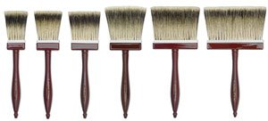 da Vinci Varnish & Priming Series 99 Softener Brush, 3-Row Thickness Pure Badger Hair with Wood Handle, Size 60