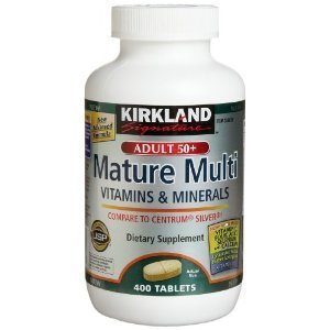 Kirkland Signature Adults 50+ Mature Multi, 400 Tablets (Pack of 3)