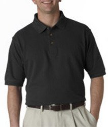 UltraClub 8535T Adult Tall Classic Pique Polo Black X-Large ()