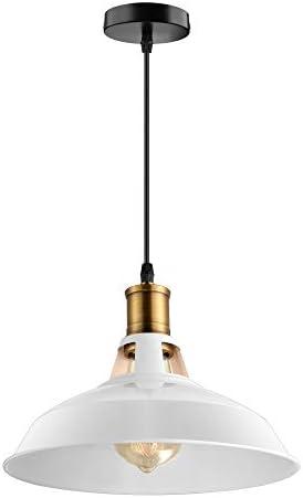 BAYCHEER Vintage Pendellaeuchte Hängelampe Industrie Kronleuchter Deckenlampe E27 Fassung für Wandelgang Balkon Restaurant Küche Esszimmer Kinderzimmer (Weiß 2)