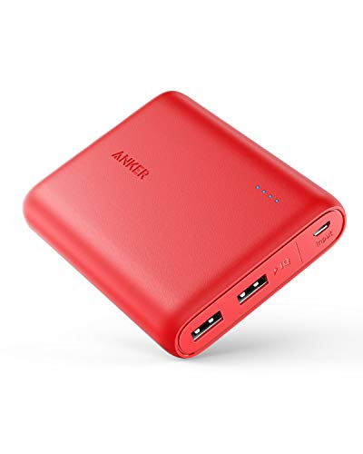 Anker PowerCore 13000 Portable Charger - Compact 13000mAh 2-Port Ultra Portable Phone Charger Power Bank with PowerIQ and VoltageBoost Technology for iPhone, iPad, Samsung Galaxy (Red) ()