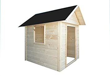 Cadema Casita de jardín para niños, casa de juguete de madera, 1,4 x 1,4 m: Amazon.es: Jardín