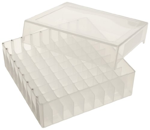 - Bel-Art F18852-0011 81-Place Plastic Freezer Storage Boxes; 5.5 x 5.5 x 1.9 in., Natural (Pack of 5)