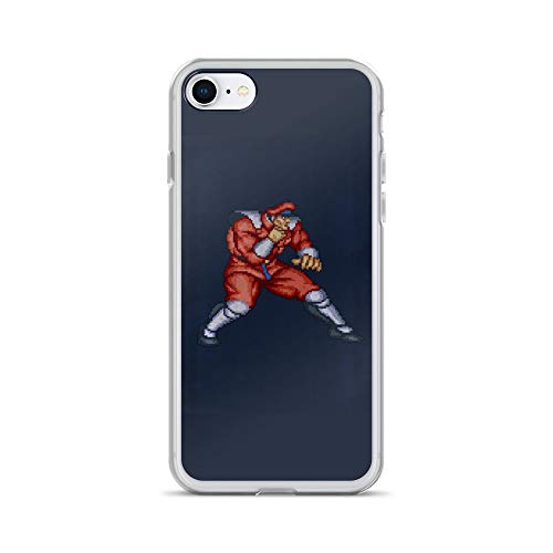 iPhone 7/8 Case Anti-Scratch Gamer Video Game Transparent Cases Cover Bison Fight Gaming Computer Crystal Clear