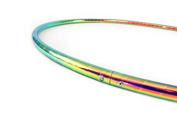 """Color Changing Polypro Hula Hoop for Dance and Fitness (Oceans Depth, 32"""" x 5/8"""" OD (Intermediate - Advanced))"""