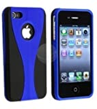 Leegoal(TM) Blue 3-Piece Snap On Hard Case Cover For AT&T Verizon Sprint Apple iPhone 4 4S