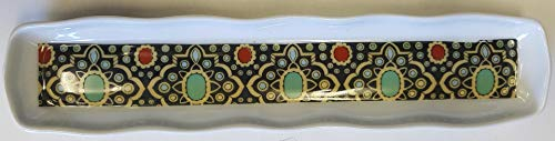 Limoges New Authentic Signed Porcelain Hand Painted Long Tray (Made in France)