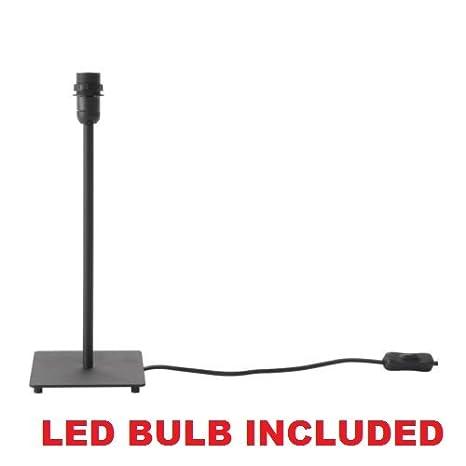 Ikea table lamp base led bulb included hemma 14 black amazon ikea table lamp base led bulb included hemma 14quot black mozeypictures Images