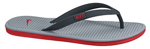 Nike Solarsoft Thong II (488160-090) Negro (Classic Charcoal/challenge Red-dove Grey 069)