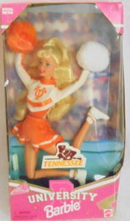 University Barbie Tennessee Cheerleader Doll