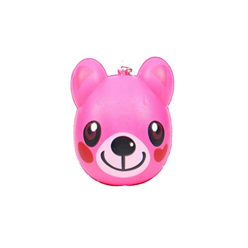 Binory Squishy Toy,Exquisite Mini Cute Animal Creative Purchase Bag/Wallet/Keychain/Phone Ornament,Slow Rising Attractive Toy,Stress Relief Fun Kawaii Decompression Toy,Children's Day Gift(K)