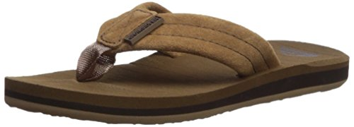 Quiksilver Boys' Carver Suede Youth Sandal, TAN-Solid, 6(39) M US Big Kid