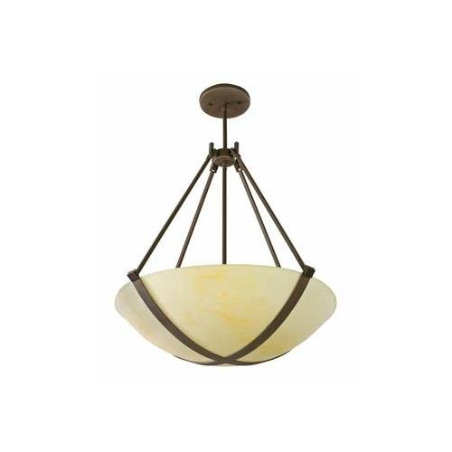 Lighting by AFX CRP418RBMV Carson Multi-Volt 4-18 Watt Pendant, Oil-Rubbed Accents with Faux Alabaster Acrylic Diffuser