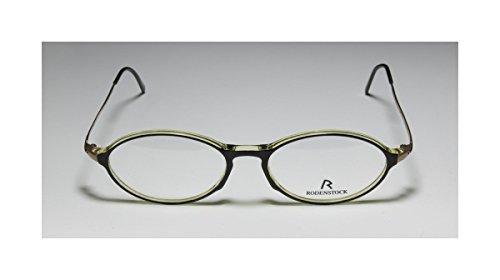 Rodenstock R5133 Mens/Womens Oval Full-rim Eyeglasses/Spectacles (47-14-135, Dark Green / Gold)