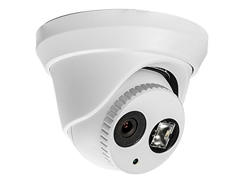 Monoprice 4.1MP Turret IP Security Camera - White a 2.8mm Fixed Lens