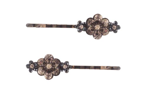 Revlon Chateau Marmont Bobby Pins with Flower and Stones