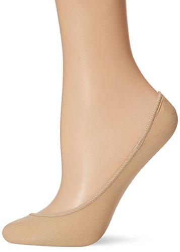 HUE Women's Low Cut Shade Match Liner Sock with Heel Gel Tab, Cream, M/L ()
