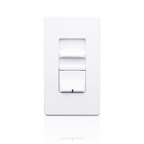 Leviton AWSMT-HAW Renoir II Preset Slide Dimmer, Ballast 3-Wire Control, Thin Heat Sink, Narrow, 5A, White by Leviton