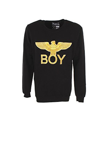 Felpa Uomo Boy London 2XL Nero Bl843 Autunno Inverno 2017/18