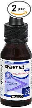(Humco Sweet Oil - 1 oz, Pack of 2)