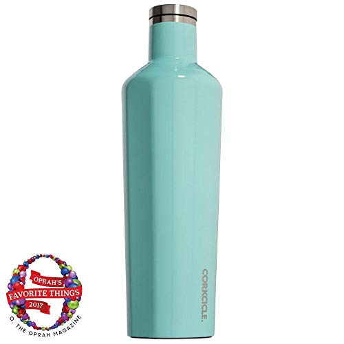Corkcicle Canteen - Water Bottle and Thermos - Keeps Beverages Cold for Over 25, Hot for Over 12 Hours - Triple Insulated with Shatterproof Stainless Steel Construction - Turquoise - 25oz/750ml