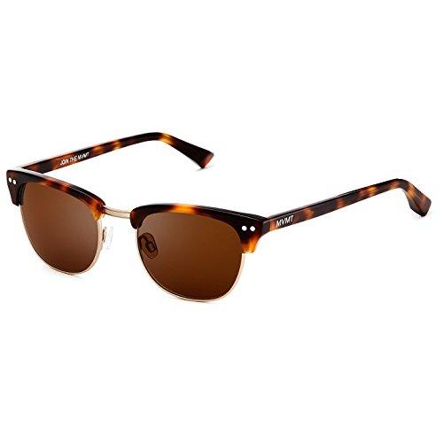 MVMT Legend | Non-Polarized Round Women's & Men's Sunglasses | Oak Tortoise | 50 mm