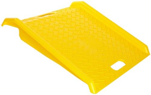 (Eagle 1794 High Density Polyethylene Curb Ramp, Yellow, 1000 lbs Load Capacity, 27