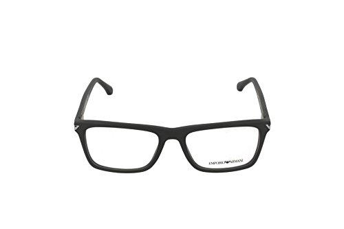 Emporio Armani Montures de lunettes 3071 Pour Homme Matte Black, 53mm 5042: Matte Black