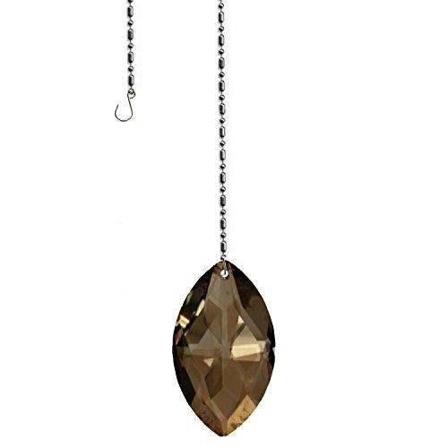 Swarovski crystal 50mm (2'') Golden Teak Lead Free Oval Sun Catcher Austrian crystal with - Crystal Teak Swarovski