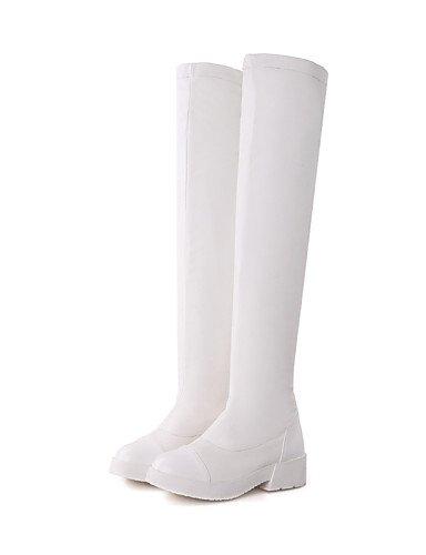 Redonda White Cerrada Vestido Zapatos Uk6 Sintético Xzz Mujer Punta Eu36 Uk4 Exterior Bajo Botas Tacón us6 Casual De Cuero Cn36 Cn39 Trabajo Y Eu39 us8 Oficina Brown dBwO00qY