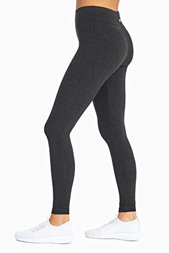 MARIKA Magic Tummy Control Leggings - with Power Mesh - Coolmax Gusset Heathered Charcoal Medium