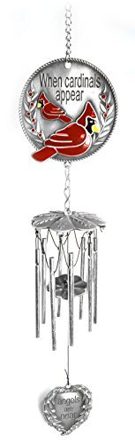 Banberry Designs Memorial WindChimes - When Cardinals Appear Angels are Near - Red Cardinal Wind Chime with a Remembrance Saying by Banberry Designs (Image #4)'