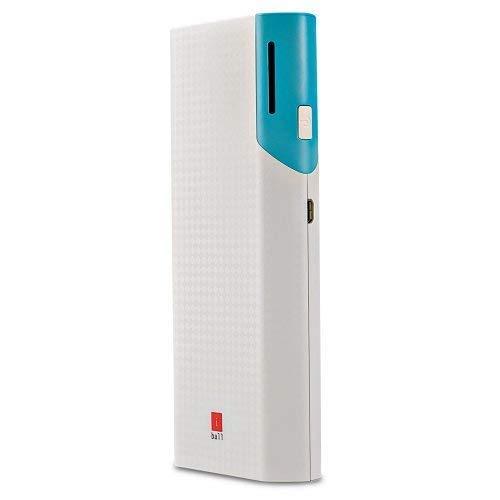 iBall PB 10017 10000mAh Portable Power Bank with Dual USB Port Battery  White
