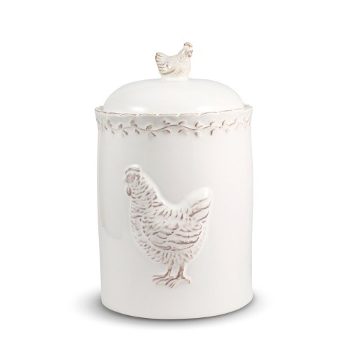 Pfaltzgraff Antiqued Hen Small Canister, 40-Ounce