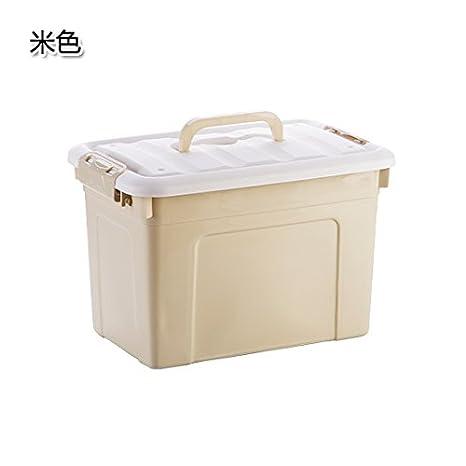 UWSZZ Caja de almacenamiento de plástico liso con mango cubierto de clasificación de almacenamiento de cajas de juguetes infantiles ropa ropero cajas de ...