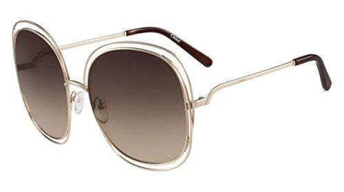 Sunglasses CHLOE CE126S 784 ROSE GOLD/TRANSPARENT ()