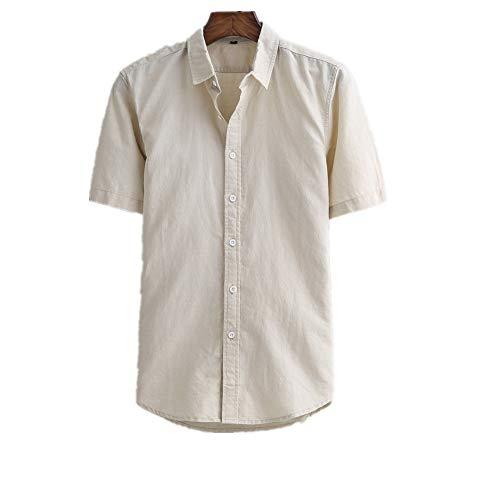 (dffg455u Men's Short Sleeve Linen Cuban Camp Guayabera)