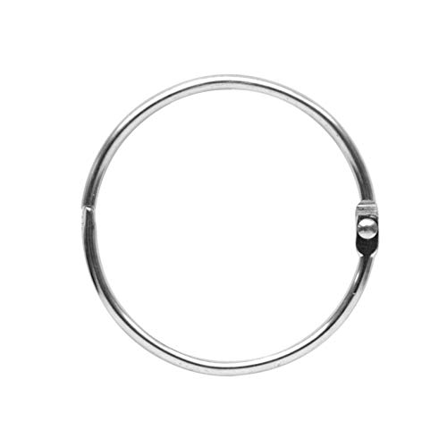 Maytex Metal Circular Shower Ring, Chrome, Set of - Curtain Round Rings