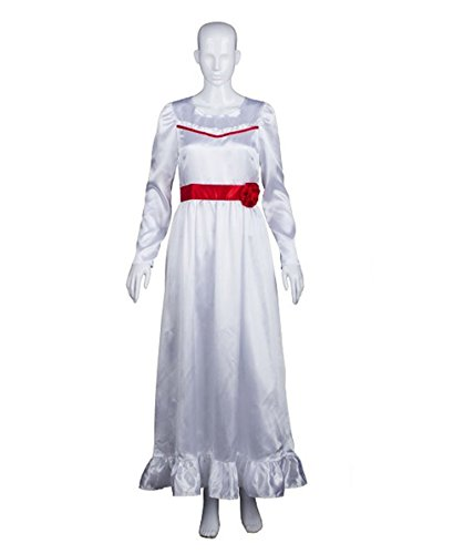 Halloween Party Online Annabelle Costume, White Adult (S) (Halloween Costume Annabelle)