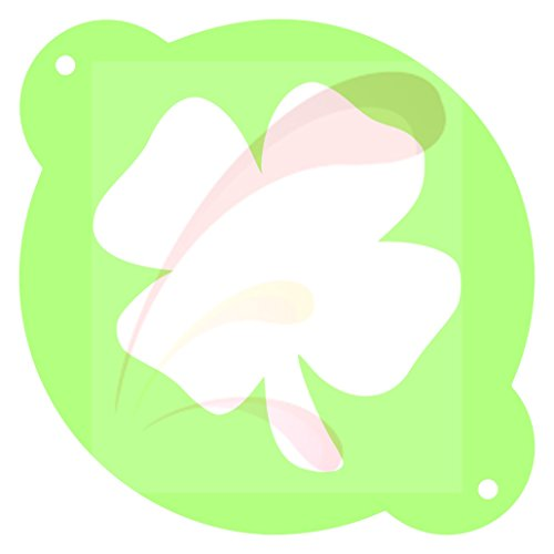 Clover, St Pat, shamrock, clover, Cookie stencil, Cake Stencil, Coffee Stencil, Candy Stencil, Cupcake stencil for Royal Icing, powders, sugars, edible glitters and Airbrushing (clover)