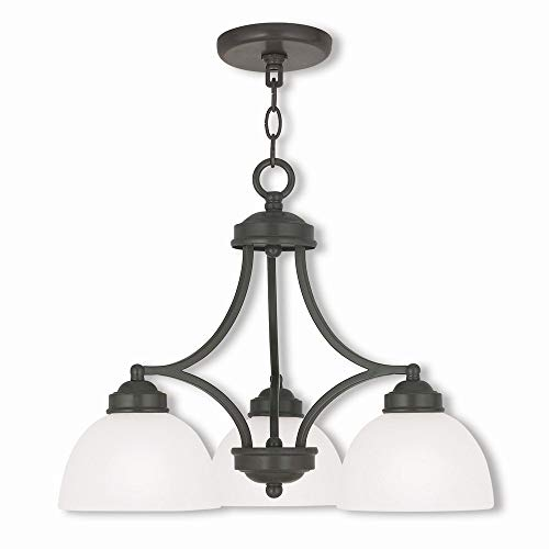 Livex Lighting 4223-92 Somerset 3 Light EBZ Dinette Chandelier, English ()