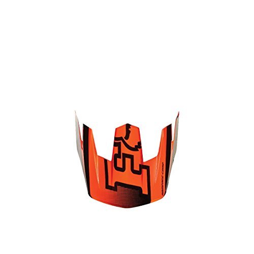 Fox 2015 Rampage Comp Imperial Replacement Visor - 09822 (Flo Orange - One Size) by Fox Racing