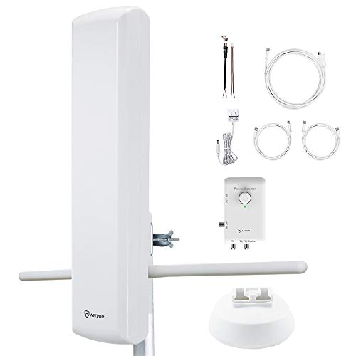 Hdtv Antenna Fm Stereo Radio Antenna Antop 80 Miles Multi Directional Reception Antenna Support Tv And Second Device Fm Stereo Radio Amplier Ota Ready Streaming Device Projector 2019