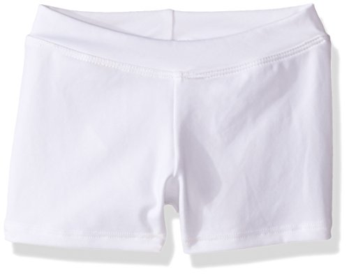 Capezio Little Girls' Boy Cut Low Rise Short,White,S (4-6)