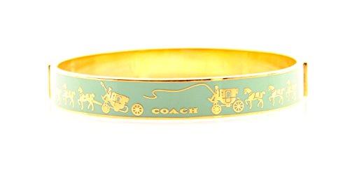 COACH Horse and Carriage Enamel Bangle Bracelet, F90912 - Glasses Coach Pink
