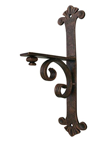 "Shoreline Decorative 7""DX17""L Iron Mantel/Shelf Bracket for Heavy Duty Corbel Support-Granite & More-Interior Exterior Use - Antique Iron Patina by Shoreline Ornamental Iron"