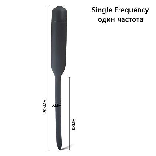 Safe Silicone Vibrating Penis Plug Urethral Vibrator Male Masturbator Urethral Sound Catheter Penis Dilators Sex Toys for Men Single Frequency2