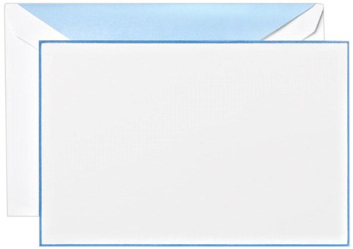 Crane & Co. Newport Blue Bordered Correspondence Card (CC3307)